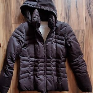 Calvin Klein down winter women's coat with hood